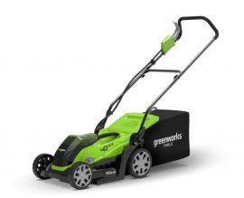 Fűnyíró fűgyűjtős, akkumulátoros Greenworks G40LM35 40v, 35 cm vágási szélesség,40l-es gyüjtő, akku és töltő nélkül