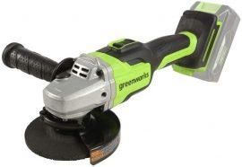 Sarokcsiszoló akkumulátoros Greenworks GD24AG 24v, akku és töltő nélkül